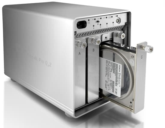 Over the last three weeks two large hard drives died in my 22TB archiving system. This four bay drive case will anchor my revamped backup regime. Image courtesy Other World Computing.