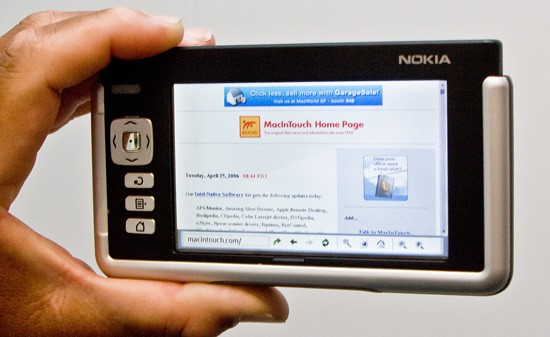 In 2006, Nokia had a web ready tablet called the 770 Internet Tablet. Like so many of the company's best ideas, almost nobody ever heard about it. Photograph by Mark Lyndersay.