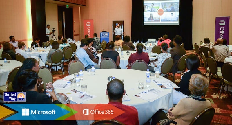 Attendees at  the Microsoft NGO Connection Day held recently at the Hyatt Regency Trinidad.