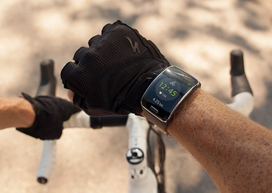 Samsung's Gear S marries the smartwatch features of the original model with the fitness focus of the Gear Fit with a larger screen and more phoneless features. Photo courtesy Samsung.