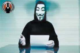 A frame from the anonymous threat video