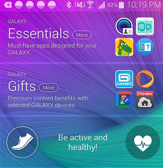 Welcome new features on Samsung's Note 4 put the choice of built-in and featured apps back in the hands of users.