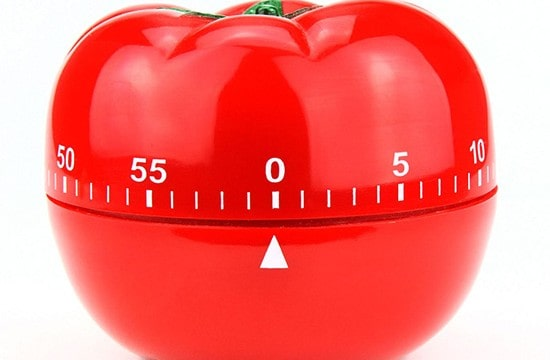 Using the Pomodoro technique, you slice work into smaller chunks (or pomodoros) and work on them intensively for a short time. You can easily find software and hardware timers to support the technique. Photo courtesy imgkid.com.