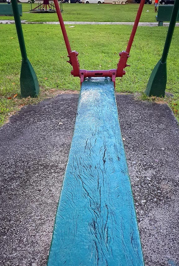 Woodbrook park swing. Day 20 of the 2015365 photography project. Photograph by Mark Lyndersay.