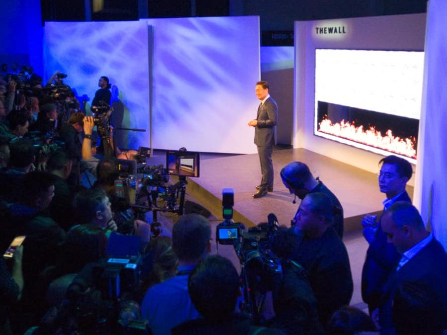 The Wall is Samsung's new 146 inch, 8K display