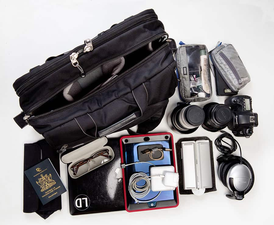 A tech traveller's bag