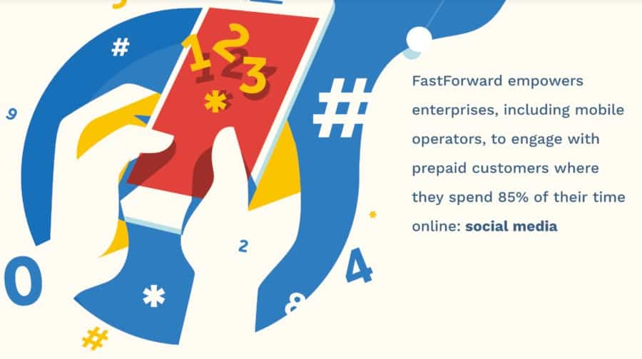 Digicel partners with FastForward social media services