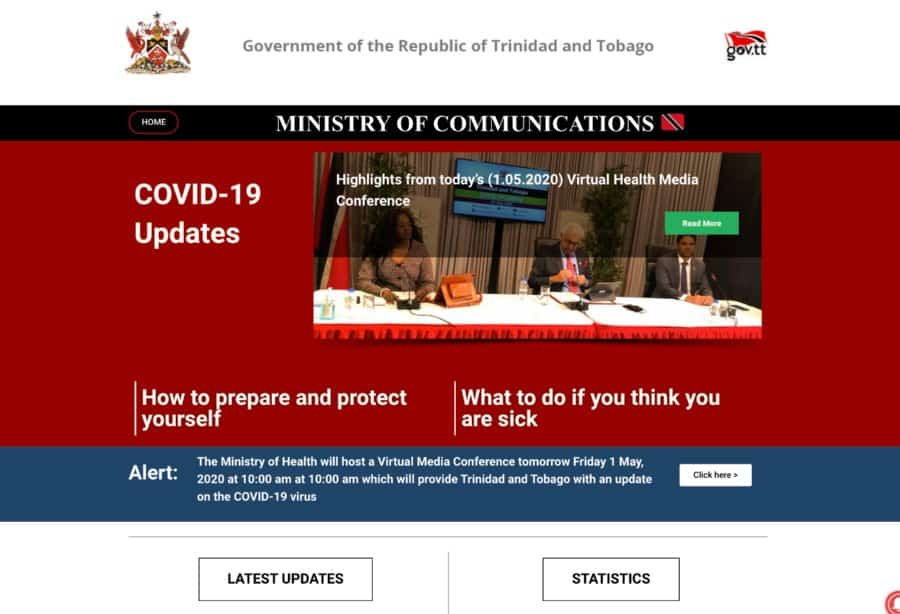 TT Communications Ministry creates Covid-19 website